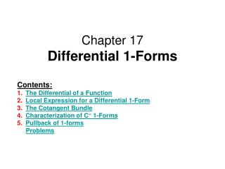 Chapter 17 Differential 1-Forms