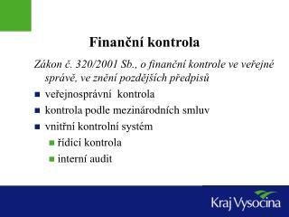 Finanční kontrola