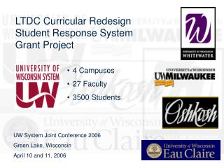 LTDC Curricular Redesign  Student Response System  Grant Project