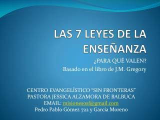 LAS 7 LEYES DE LA ENSEÑANZA