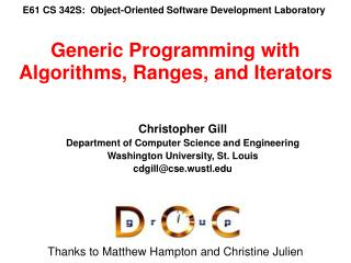 E61 CS 342S:  Object-Oriented Software Development Laboratory
