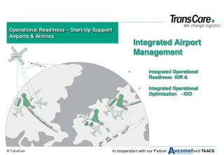 Operational Readiness – Start-Up Support Airports & Airlines