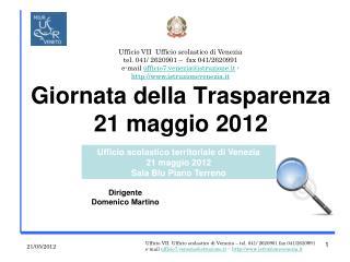 Giornata della Trasparenza 21 maggio 2012