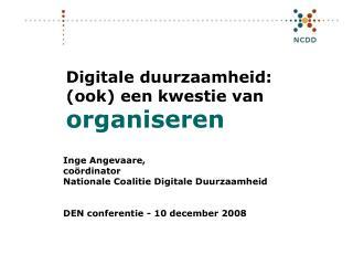 Digitale duurzaamheid: (ook) een kwestie van organiseren