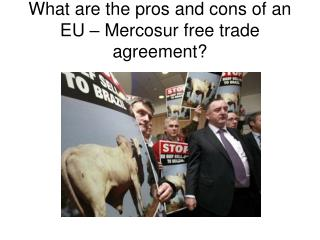What are the pros and cons of an EU –  Mercosur  free trade agreement?