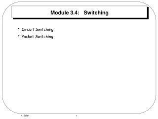 Module 3.4:   Switching
