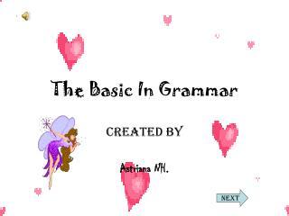 The Basic In Grammar