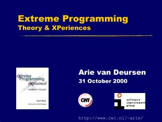 Extreme Programming Theory & XPeriences