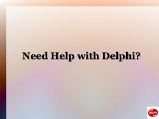 Delphi application migration
