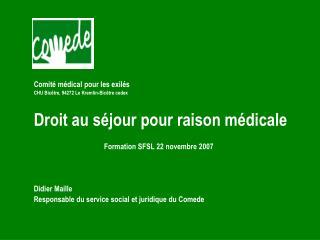 Comité médical pour les exilés CHU Bicêtre, 94272 Le Kremlin-Bicêtre cedex