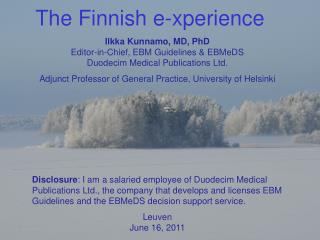 The Finnish e-xperience