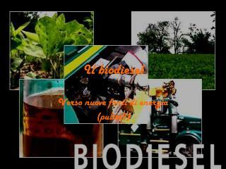 Il biodiesel
