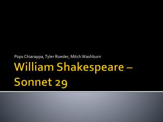 William Shakespeare – Sonnet 29