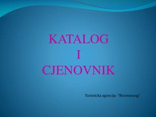 KATALOG  I CJENOVNIK