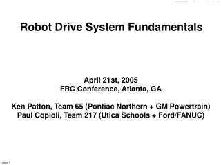 Robot Drive System Fundamentals