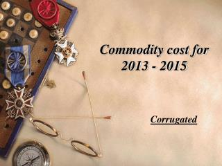 Commodity cost for 2013 - 2015