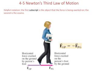 4-5 Newton�s Third Law of Motion