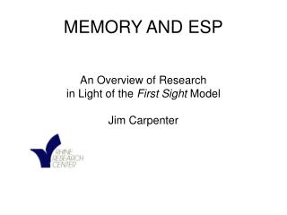 MEMORY AND ESP