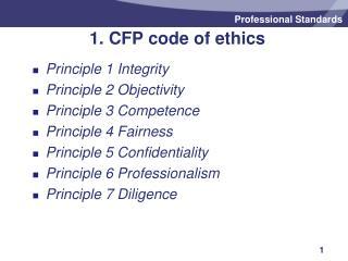 1. CFP code of ethics