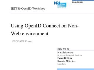 Using  OpenID  Connect on Non-Web environment