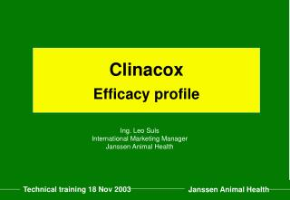 Clinacox Efficacy profile