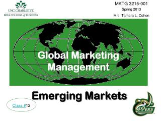 Global Marketing Management Emerging Markets