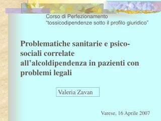 """Corso di Perfezionamento """"tossicodipendenze sotto il profilo giuridico"""""""