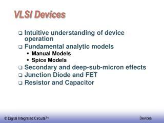 VLSI Devices