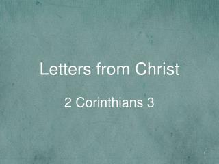 Letters from Christ