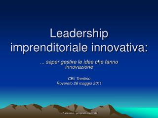 Leadership imprenditoriale innovativa: