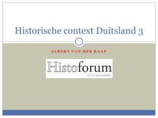 Historische context Duitsland  3