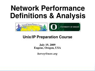 Network Performance Definitions & Analysis