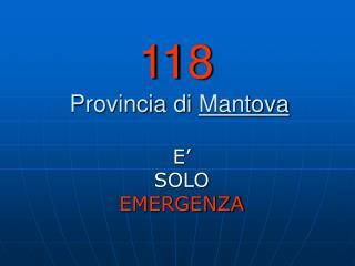 118  Provincia di  Mantova