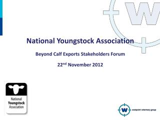 National Youngstock Association Beyond Calf Exports Stakeholders Forum 22 nd  November 2012