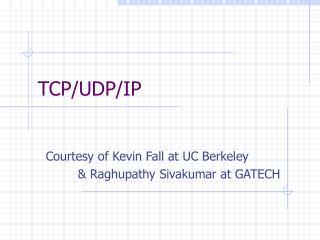 TCP/UDP/IP