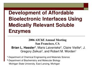 Development of Affordable Bioelectronic Interfaces Using Medically Relevant Soluble Enzymes