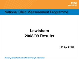 National Child Measurement Programme