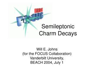 Semileptonic   Charm Decays