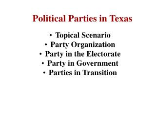 Political Parties in Texas