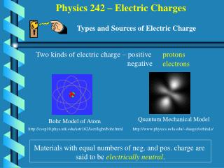 Physics 242   Electric Charges