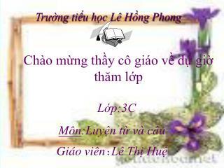 Trường tiểu học Lê Hồng Phong