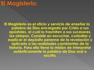 El Magisterio: