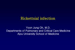Rickettsial infection