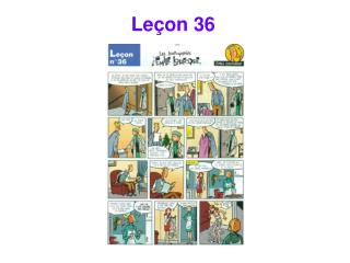 Leçon 36