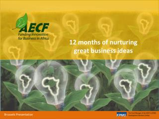 12 months of nurturing great business ideas