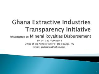Ghana Extractive Industries Transparency Initiative