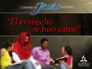 Compartir a Jesús es algo natural en la vida de  quien ha encontrado a Jesús.