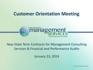 Customer Orientation Meeting