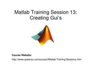 Matlab Training Session 13: Creating Gui's