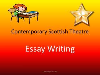 Contemporary Scottish Theatre